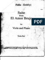 FALLA - Suite From 'El Amor Brujo' (Viola Part)