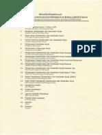 Daftar Materi Pembinaan Calon Ahli K3 Umum