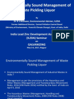 Environmentally Sound Management of Waste Pickling Liquor