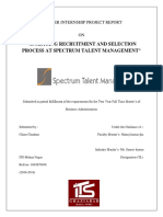 ANALYSING RECRUITMENT AND SELECTION PROCESS AT SPECTRUM TALENT MANAGEMENT.docx