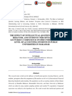 THE EFFECT OF INTELLECTUAL QUOTIENT, LEARNING BEHAVIOR, AND STUDENTS' PERCEPTION ABOUT LECTURER'S COMPETENCE ON IFRS UNDERSTANDING LEVEL OF ACCOUNTING STUDENTS IN PUBLIC UNIVERSITIES IN MAKASSAR