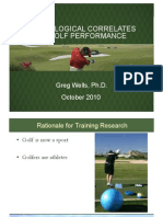 Physiolgical Correlates of Golf Performance Bogota 2010