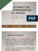 Propiedades de La Lengua