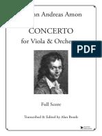 Amon Viola Concerto Full Score