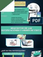 Requisitos de Las Notificaciones y Orden de Visita