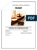 Lifting of Corporate Veil Corporate Law