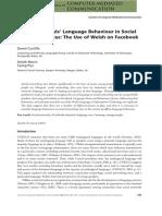 Young Bilinguals' Language Behaviour in Social