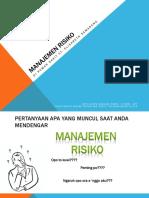 Manajemen Risiko instalasi Farmasi
