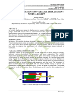DESIGN IMPROVEMENTS OF VARIABLE DISPLACEMENT PUMPS-A REVIEW