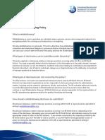 IB External Whistleblowing Policy - English