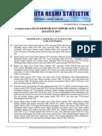 Perkembangan Ekspor Dan Impor Jawa Timur Agustus 2017