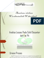 Analisa Losses Pada Solid Decanter Dan Fat Pit