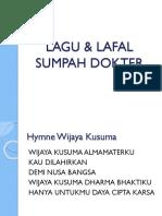 Lagu & Lafal Sumpah Dokter