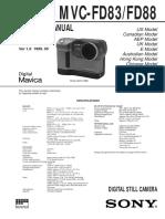 MVC-FD83 / FD88 Service Manual