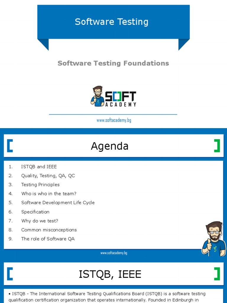 Software Testing Foundations Software Testing Quality Assurance