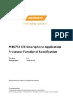 MT6737 LTE Smartphone Application Processor Functional Specification V1.0