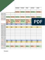 Cooper Schedule