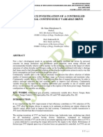 PERFORMANCE INVESTIGATION OF A CONTROLLED DIFFERENTIAL CONTINUOUSLY VARIABLE DRIVE