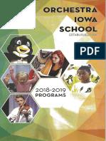 Orchestra Iowa School Music Education (2018/2019)