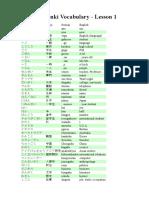 Genki I Vocabulary.doc