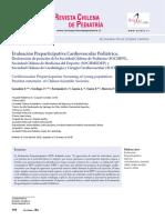 Evaluación Preparticipativa Cardiovascular Pediatrica. Declaracion de Posicion. CHILE