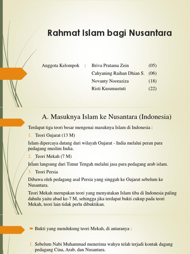Contoh Makalah Rahmat Islam Bagi Nusantara
