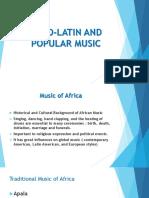 Afro Latin and popularmusic