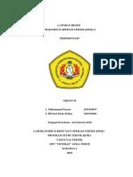 Sedimentasi Laporan Praktikum Operasi Teknik Kimia