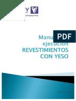 Manual de ejecución de revestimiento con yeso