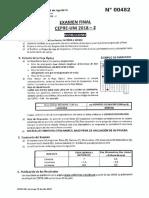 ✓ Examen Final - Cepre Uni 2018-II