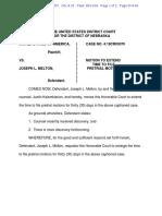 Joe Melton Motion to Extend 17
