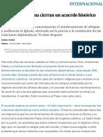 El Vaticano y China Cierran Un Acuerdo Histórico Para El Deshielo _ Internacional