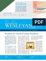 Nuevo Boletín Iglesia Cristiana Wesleyana de Sincelejo