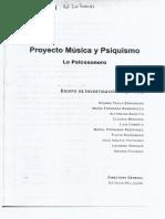 Proyecto Música y Psiquismo- Lo Psicosonoro