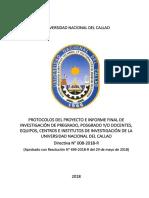499 18 r Directiva 008 Protocolo de Proyecto y Tesis