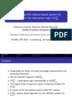 An optimized KE-tableau-based system for reasoning in the description logic DL4xD
