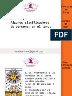 SIGNIFICADORES DE PERSONAS CON EL TAROT