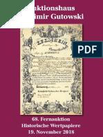 Katalog der 68. Gutowski-Auktion (Nonvaleurs)