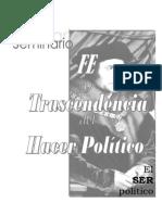 Fe y Trascendencia Del Hacer Político