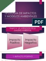 Tipología de Impactos y Modelos Ambientales