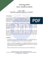 Curso Taller Legislacion Sanitaria Acta Medellin