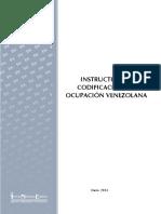 INSTRUCTIVO DE CODIFICACIÓN DE OCUPACIÓN VENEZOLANA