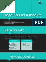 Embriologia Del Periodonto