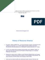 History of Resource America