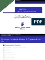 Introdução a Lógica de Programação com Java