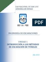 Unidad 1 - Introducción a Los Métodos de Excavación de Túneles (2015) (1) (1)