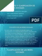 Concepto y Clasificación de Las Redes Sociales