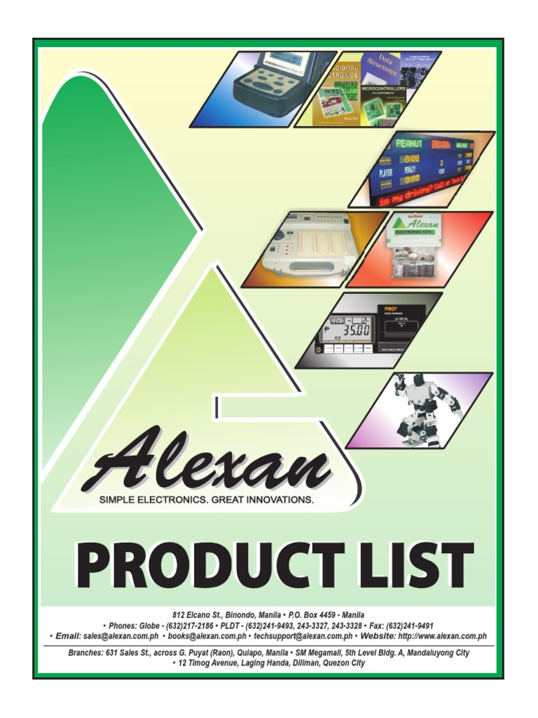 Alexan Product Listpdf Microcontroller Operational Amplifier Stereo Power 4w 8w With Tda2005