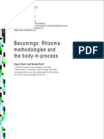 Becomings - Rhizome methodologies and the body-in-process