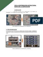 Descripción de La Distribución Estructural Sucinta en La Edificación